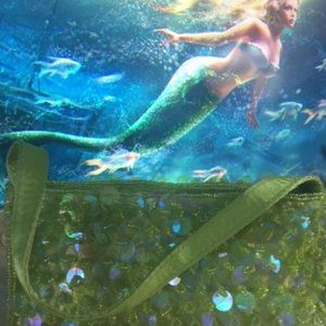 Jessica McClintock Sequined & Beaded Purse - Lime